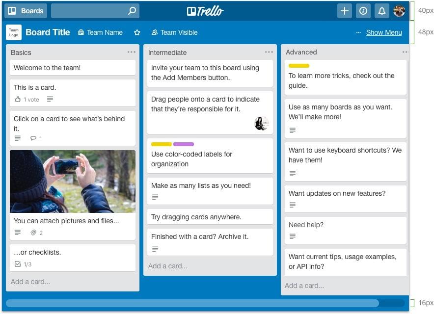 Trello board example, Dentons Digital, Website Design Build, Wiltshire, Somerset