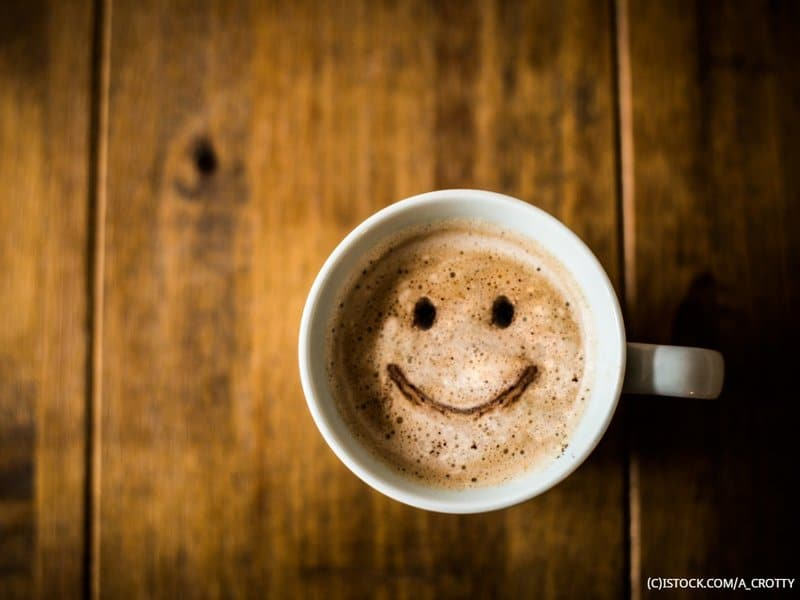 smiley face in coffee mug. Dentons Digital, Website Design Build, Wiltshire, Salisbury