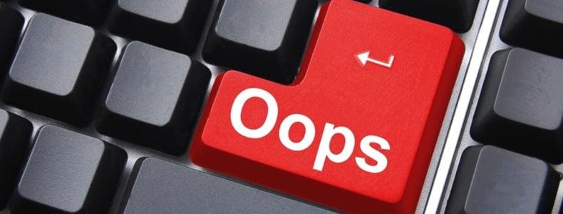 Oops keyboard key, Dentons Digital, Website Design Build, Wiltshire, Somerset