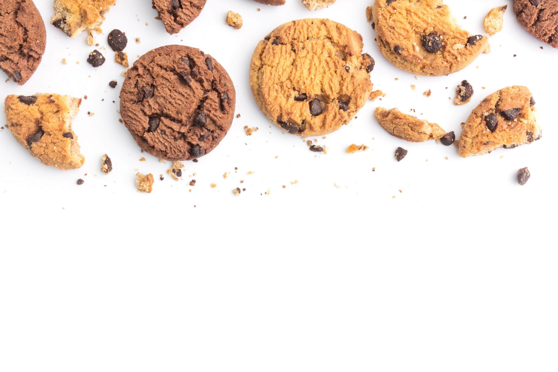 Cookies chocolate crumbling