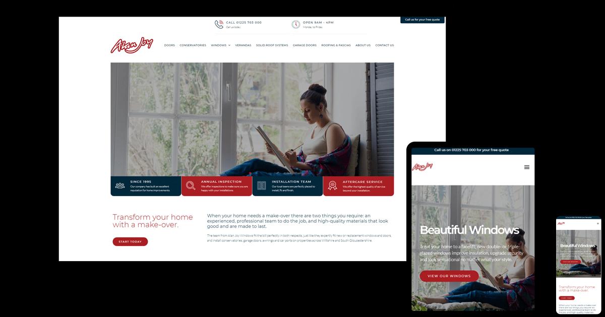 Alan Joy Website Examples in Different Screen Sizes