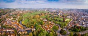Panoramic view above Salisbury city, Dentons Digital, Website Design Build, SEO and Social Media Marketing, Salisbury